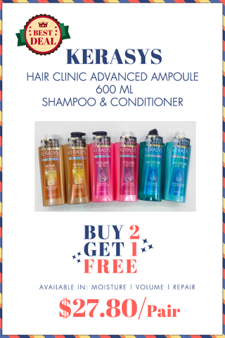 KERASYS HAIR CLINIC BUNDLE DEAL
