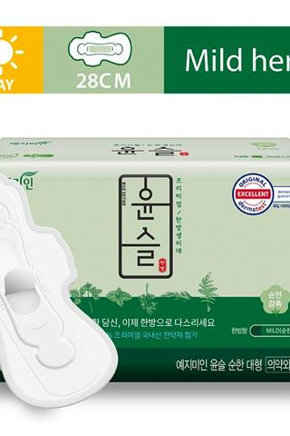 YEJIMIN Mild Herb Sanitary Pad L Size