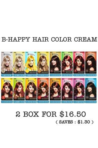 B-HAPPY HAIR COLOR CREAM