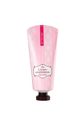 AROUND ME HAPPINESS LINEN HAND CREAM (PINK)