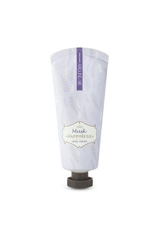 AROUND ME HAPPINESS MUSK HAND CREAM (PURPLE)