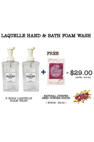 LAQUELLE HAND & BATH FOAM WASH